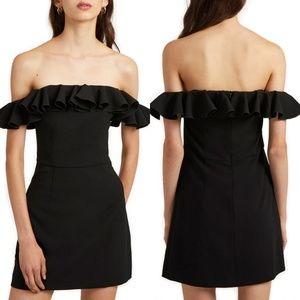 French Connection Whisper Light Off Shoulder Dress
